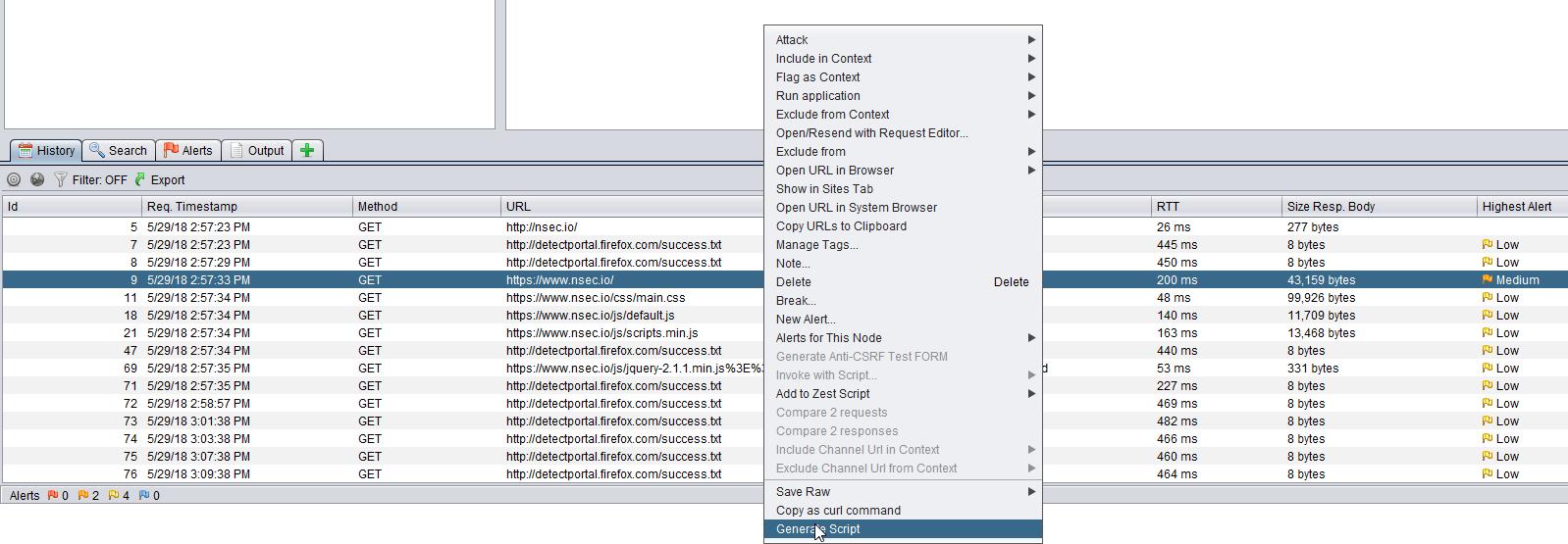 h3xStream's blog: New Burp/ZAP plugin : Script Generator